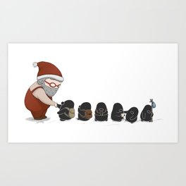 Meeting Santa, (The Unexpected Adventures: Christmas Edition) Art Print