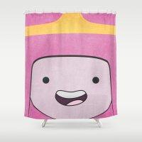 princess bubblegum Shower Curtains featuring Princess Bubblegum by Some_Designs