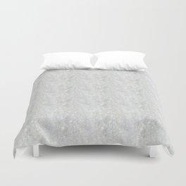 White Apophyllite Close-Up Crystal Duvet Cover