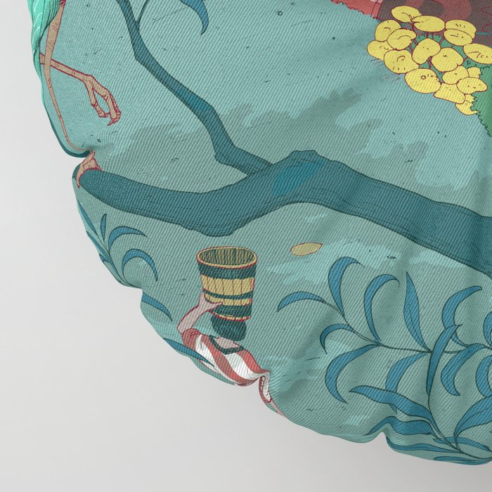 Ukiyo-e tale: The beginning of the trip Floor Pillow