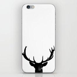 Black Deer Silhouette A273 iPhone Skin