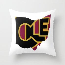 CLE, Ohio Throw Pillow