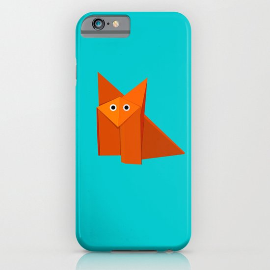 Cute Origami Fox iPhone & iPod Case