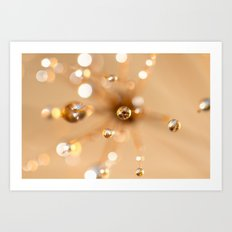 Queen Anne's Lace in Gold Art Print