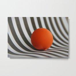 Orange ball and stripes  Metal Print