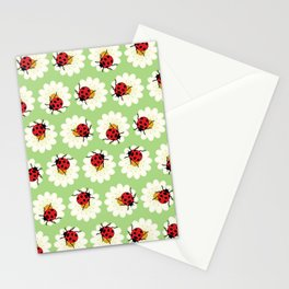 Ladybugs pattern Stationery Cards