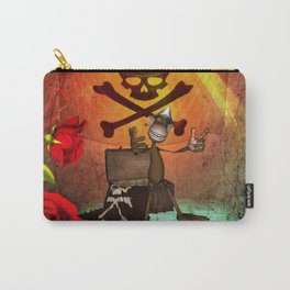 Funny pirate monkey with flag Carry-All Pouch