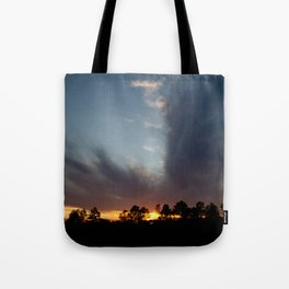 A Split Sunset Tote Bag