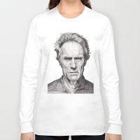 clint barton Long Sleeve T-shirts featuring Clint by Rik Reimert