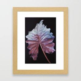 Iridescent Leaf Framed Art Print