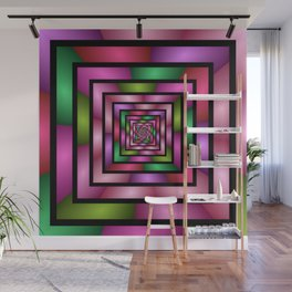 Colorful Tunnel 1 Digital Art Graphic Wall Mural