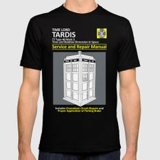 Tardis Service and Repair Manual Mens Fitted Tee Black X-LARGE