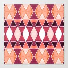 Art Deco Triangles Orange Canvas Print