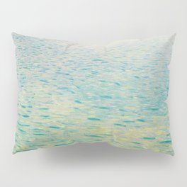 Island in the Attersee Gustav by Klimt Date 1902 // Abstract Oil Painting Water Horizon Scene Pillow Sham