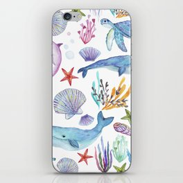 under the sea watercolor iPhone Skin