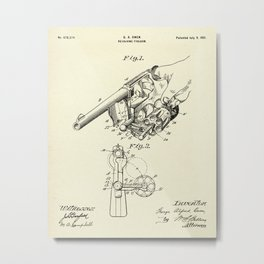 Revolving Fire Arm-1901 Metal Print