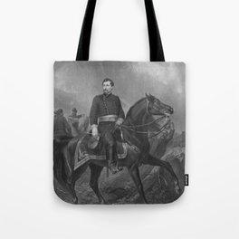 General George McClellan On Horseback Tote Bag