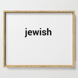jewish Serving Tray