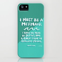 I Must Be A Mermaid – Emerald Palette iPhone Case