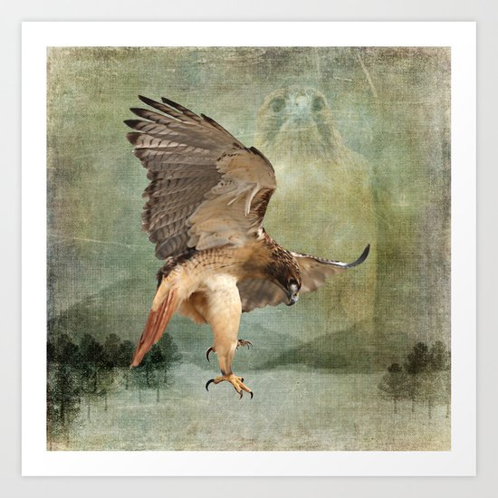 Feathered Fury Above Art Print