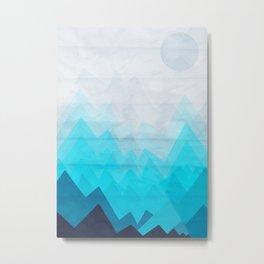 Ice Mounts Metal Print