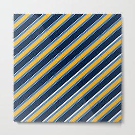 TEAM COLORS 1…Navy, gold ,white, light blue Metal Print