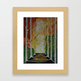 Meet Me By The Birches Framed Art Print