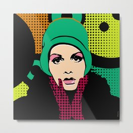 """Twiggy Pop Color"" Metal Print"