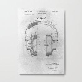 Headphone assembly Metal Print