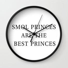 Smol Bookish YA Princes White Wall Clock