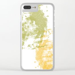 Green and Yellow Paint Patch Clear iPhone Case