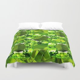 Chartruse-Yellow-Green Peridot Gems Abstract for August Duvet Cover