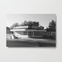 Black and White Grocery 1 Metal Print