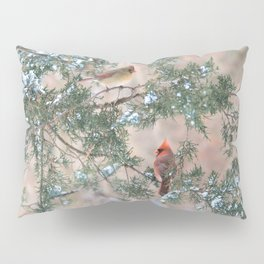 Winter Pair: Cardinals Pillow Sham