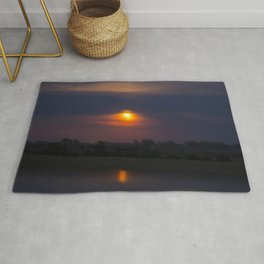 Blood Moon, Night in Countryside Rug