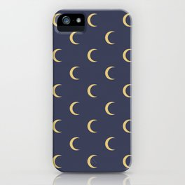 Crescent Moon Sky Pattern iPhone Case
