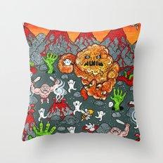 Volcano Lands Throw Pillow