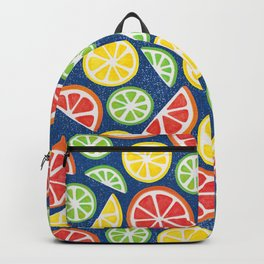 Vitamin C Super Boost - Citric Fruits on Blue Backpack