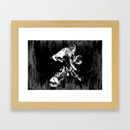 Ice Hockey Goalie Framed Art Print