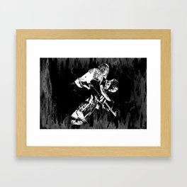 Ice Hockey Goalie Framed Art Print