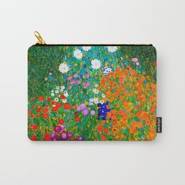 Gustav Klimt - Flower Garden Carry-All Pouch