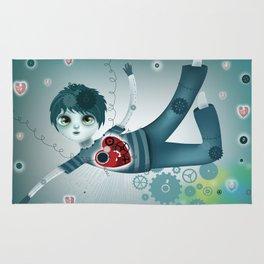 Robot?s heart Rug
