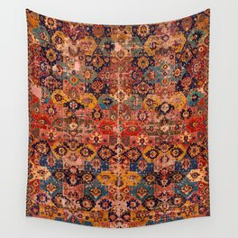 Vintage Pink Floral Embroidery Suzani Wall Tapestry