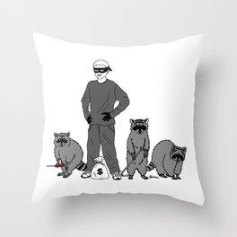 Danger Kids: Bandits Throw Pillow