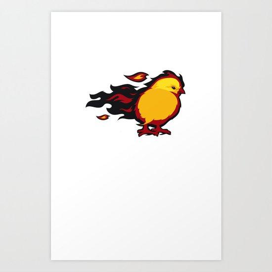 Firechicken Art Print