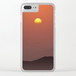 Sunset in the mountains Clear iPhone Case