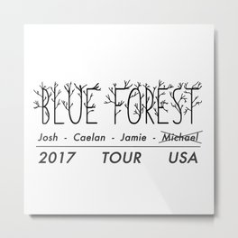 Blue Forest Band Metal Print