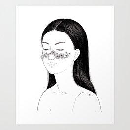 Blooming freckles Art Print