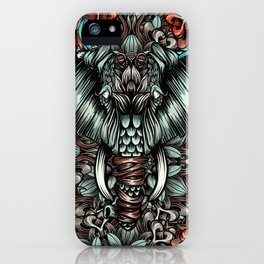 Elephant with flowers iPhone Case