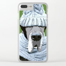 Great Dane ready for winter Clear iPhone Case